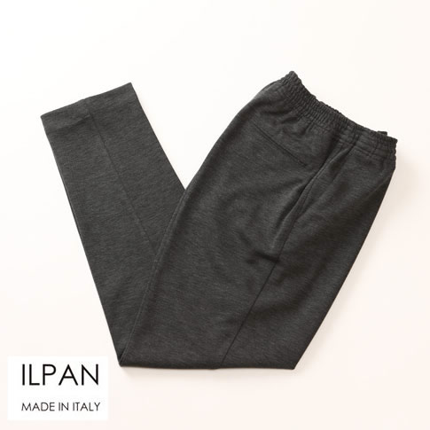 ILPAN イルパン メンズ 1プリーツテーパードジャージーPT グレー bari-priapo-999
