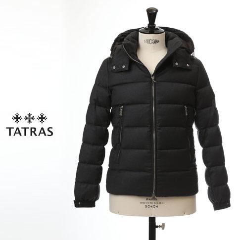 【先行予約販売スタート】【TATRAS ダウン メンズ】タトラス TATRAS ダウンジャケット DOMIZIANO Rライン Super150'Sウール&シルク チャコールグレー mtat20a4289-d
