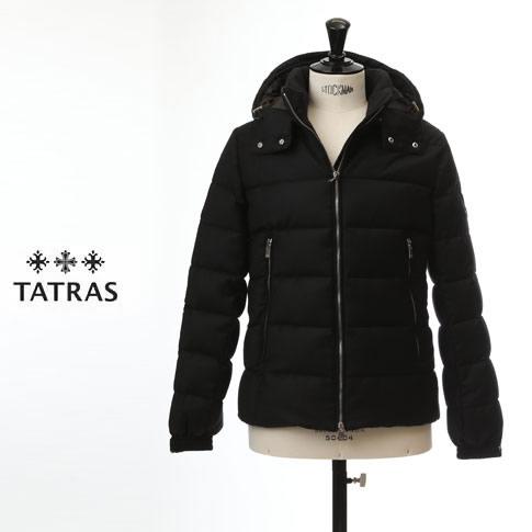 【先行予約販売スタート】【全品送料無料】【TATRAS ダウン メンズ】タトラス TATRAS ダウンジャケット DOMIZIANO Rライン Super150'Sウール&シルク ブラック mtat20a4289-d