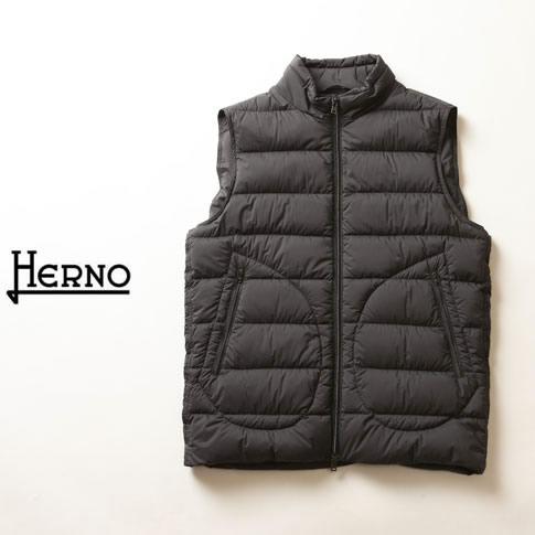 【春にも重宝】HERNO / ヘルノ メンズ シングル ダウンベスト グレー インナーダウンベスト LEGEND Il Gilet pi012ule-9460