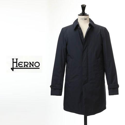 HERNO / ヘルノ メンズ Laminar(ラミナー)ダウンコート シングル ダウンステンカラーコート ラミナー ゴアテックス バルカラーコート ネイビー PI051UL 11121 9201