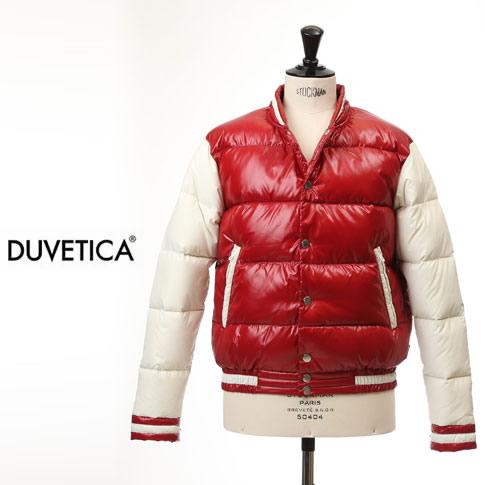 【2020半期決算セール】DUVETICA デュベティカ SINONE DUE シノネドゥエ デュべティカ メンズ ダウンジャケット スタジャン テディジャケット レッド/ホワイト 405 ROSSO GRAN