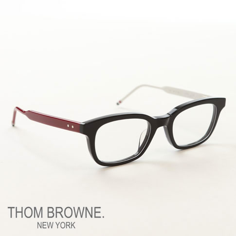 4c3e34b23d  limited production  Tom Browne glasses THOM BROWNE. NEW YORK EYEWEAR (Tom  Browne New York) Wellington glasses  TBX-410 50size 04 Red White Navy  red  white ...