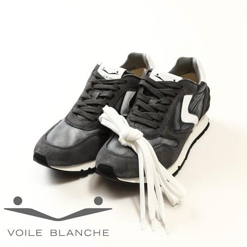 VOILE BLANCHE ボイルブランシェ スニーカー メンズ シューズ 2012246-02-9111 LIAM POWER BOOM/TESS ASFALTO-BIANCO アスファルトグレーxホワイト