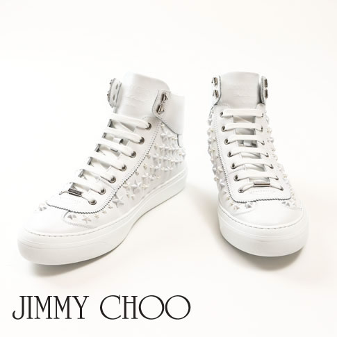amalfi | Rakuten Global Market: Ultra White SPORT calf-leather higher frequency elimination sneakers white OMX 164 argyle-omx-ultra-wt with ジミーチュウ JIMMY CHOO ARGYLE argyle Mix star studs