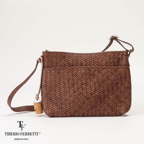 TIBERIO FERRETTI [BORSELLO] a spiga ティベリオフェレッティ ショルダーバッグ ブラウン borsello-brown