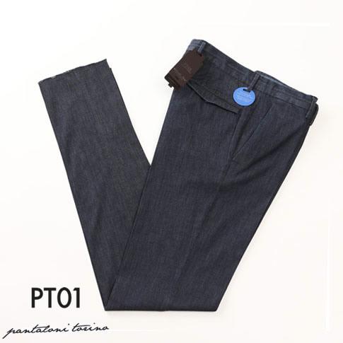 PT01 ピーティーゼロウーノ GRAVEN FIT ストレッチ コットン デニム パンツ ライトオンス インディゴ conlcs-tu33-0360