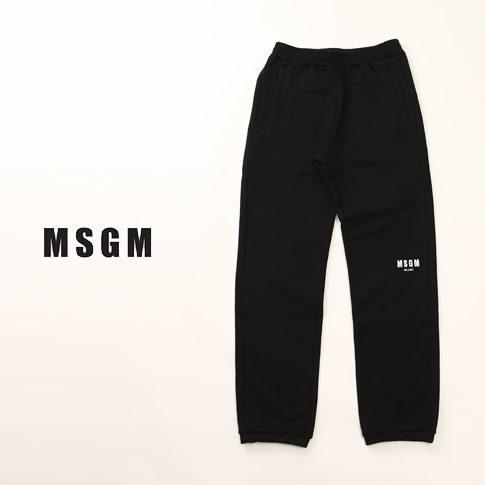 MSGM エムエスジーエム スエット パンツ ボトムス ブラック mp61-184298-99