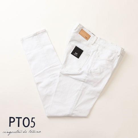 PT05 ピーティーゼロチンクエ DRESS FIT ドレスフィット re-tailored denim テーラードデニム ストレッチ ホワイト c6gtg5-pm02-0010