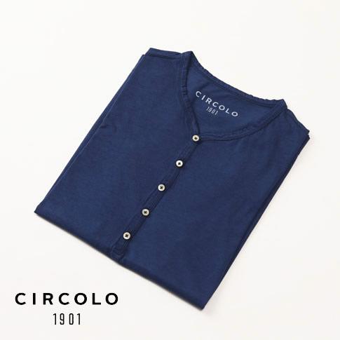 【WINTER SALE】CIRCOLO 1901 チルコロ 1901 半袖Tシャツ ブルー cn1816-ocean
