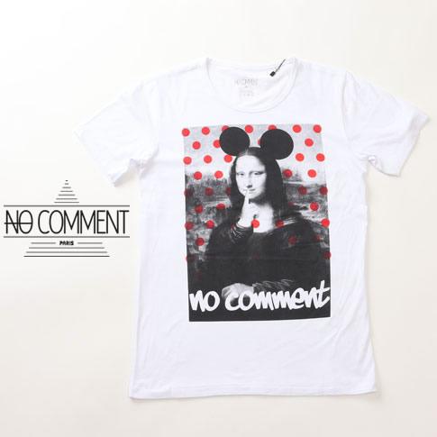 ncpm-02 NO COMMENT PARIS 【スーパーセール開催!】 半袖 ノーコメント ブラック Tシャツ メンズ