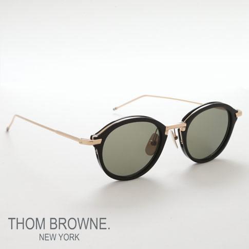 1a503023d8 amalfi  Tom Browne glasses THOM BROWNE. NEW YORK EYEWEAR (Tom Browne New  York) sunglasses  TB-011-A-T 46size BLACK SHINY 12K GOLD BRIDGE amp ...