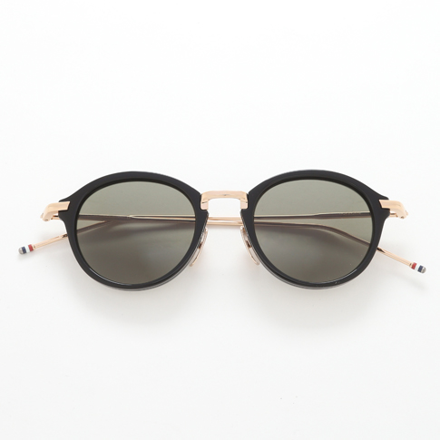 6d48b48b3e8f Tom Browne glasses THOM BROWNE. NEW YORK EYEWEAR (Tom Browne New York)  sunglasses  TB-011-A-T 46size BLACK SHINY 12K GOLD BRIDGE TEMPLES TB -011-A-T-46