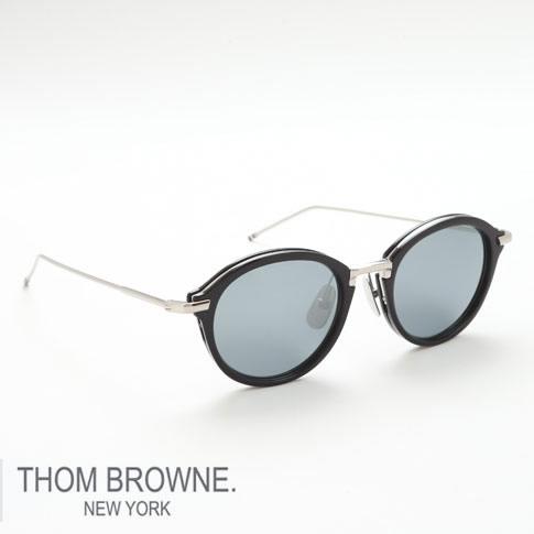 【数量限定 再入荷】トムブラウン メガネ THOM BROWNE. NEW YORK EYEWEARトムブラウン サングラス [TB-011-H-T 49size NAVY/SILVER BRIDGE AND TEMPLES]TB-011-H-T-49