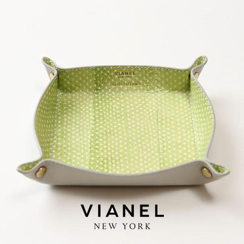VIANEL NEW YORK ヴィアネル OLIVIA PALERMO コラボモデル LEATHER TRAY レザートレイ SNAKE LEMON レモン イエロー グリーン 蛇革 vianel-op-tray06