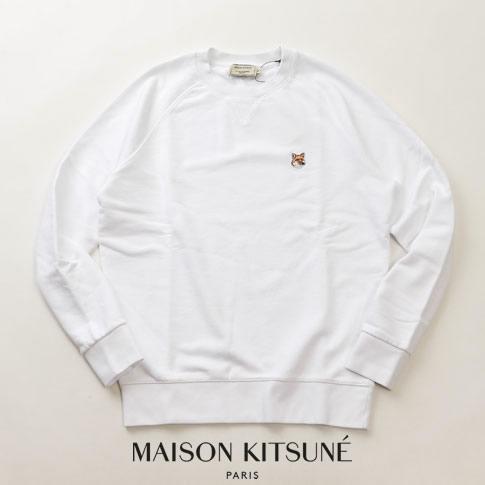 【全品送料無料】MAISON KITSUNE メゾンキツネ スウェット トレーナー キツネ ヘッド FOX HEAD PATCH ホワイト 00303km-wh