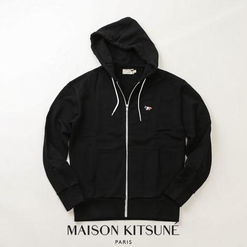 【全品送料無料】MAISON KITSUNE メゾンキツネ スウェット パーカー トリコロールFOX ブラック 00304km-bk