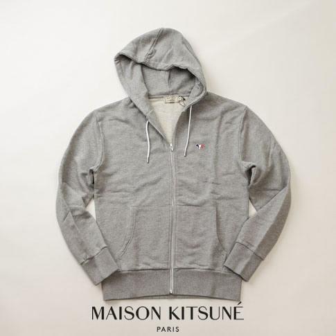 グレー トリコロールFOX スウェット パーカー KITSUNE 00304km-grm メゾンキツネ 【ブラックフライデー全品ポイント還元】MAISON
