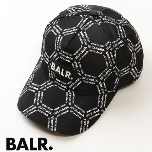 ボーラー BALR. キャップ 2019-20秋冬新作  ボーラー BALR. キャップ 10434 LOAB HEXAGON CLASSIC CAP BLACK / WHITE ブラック&ホワイト