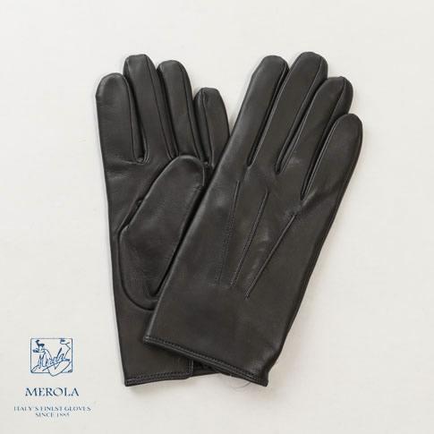 【2020半期決算セール】メローラ / MEROLA GLOVES【メローラ 手袋】【国内正規別注品】メローラ グローブ ラムナッパxカシミアライナー ハンドメイド手袋 me929001-90 ダークグレー