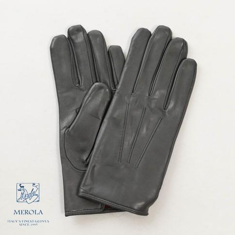 【2020半期決算セール】メローラ / MEROLA GLOVES【メローラ 手袋】【国内正規別注品】メローラ グローブ ラムナッパxカシミアライナー ハンドメイド手袋 me929001-91 ミディアムグレー