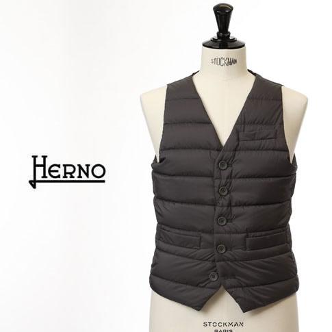 【新作HERNO メンズ全品ファイナルクリアランスセール】HERNO / ヘルノ メンズ シングル ダウンベスト グレー インナーダウンベスト LEGEND Il Panciotto pi002ule-9460