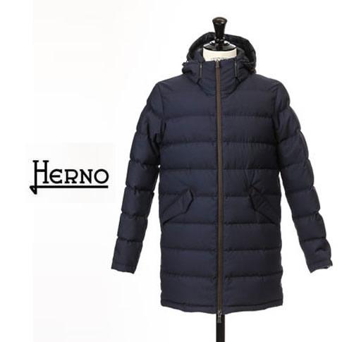 【2020半期決算セール】HERNO / ヘルノ メンズ ダウン Laminar(ラミナー)ミディアム丈 フーテッド ダウンコート ラミナー ゴアテックス ネイビー PI121UL 9201