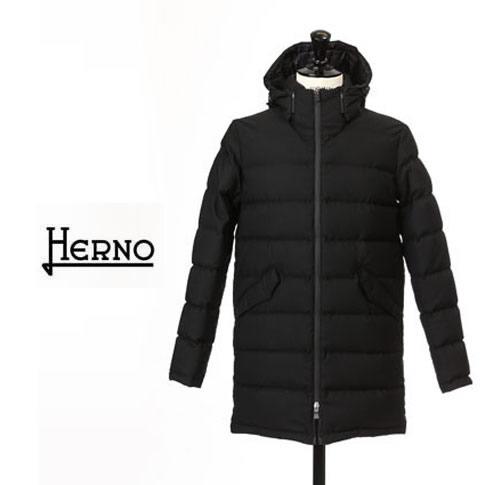 【2020半期決算セール】HERNO / ヘルノ メンズ ダウン Laminar(ラミナー)ミディアム丈 フーテッド ダウンコート ラミナー ゴアテックス ブラック PI121UL 9300