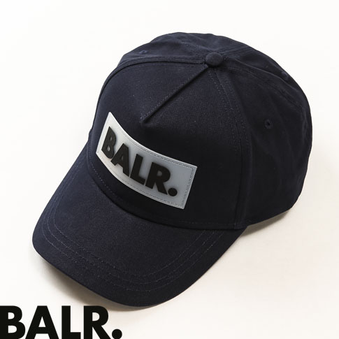 BALR.キャップ ボーラー キャップ  BALR.キャップ ボーラー キャップ 帽子 ラベルパッチ ラグジュアリー ストリート ユニセックス Rubber Box Logo Cap ネイビー