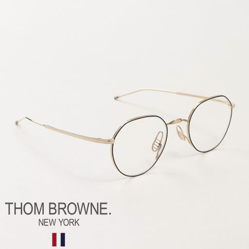 【全品送料無料】トムブラウン メガネ THOM BROWNE. NEW YORK EYEWEAR クラウンパント メタルフレーム メガネ TBX914 48size 02 GLD-BLK
