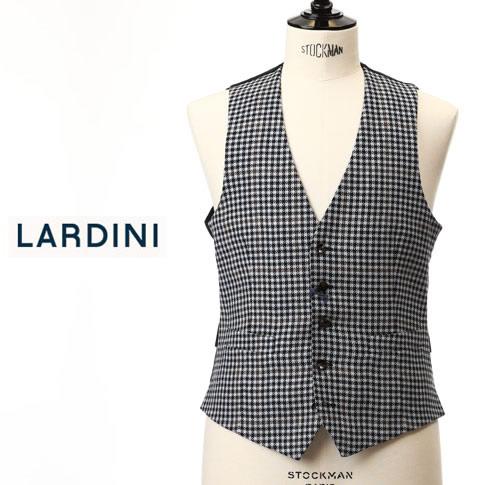 【2020半期決算セール】ラルディーニ LARDINI ラルディーニ ジレ シングル ベスト オーバーペン チェック シルク混 EG77003 EGRP52599 3
