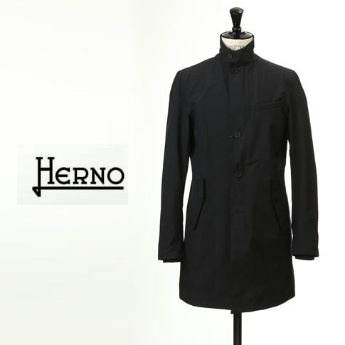 HERNO / ヘルノ メンズ Laminar(ラミナー) ステンカラーコート スタンドカラーコート ラミナー ゴアテックス ダークネイビー スプリングコート im024ul-9290