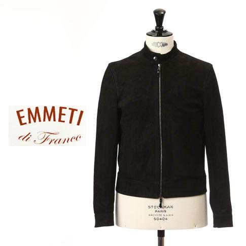 【国内正規品】EMMETI エンメティ シングルライダースジャケット JURI スエード レザー BLACK ブラック juri-190-suede