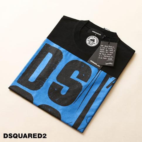 ディースクエアード / DSQUARED2 / ディースクエアード 半袖 Tシャツ / Graffity D2ロゴプリントクルーネックTシャツ カットソー s74gd0491