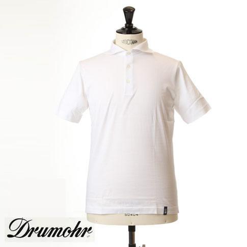 ドルモア DRUMOHR ドルモア ポロシャツ マーセライズコットン ホリゾンタルワイドカラー ホワイト ytm202-110