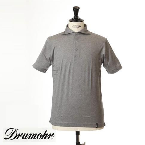 ドルモア DRUMOHR ドルモア ポロシャツ マーセライズコットン ホリゾンタルワイドカラー グレー ytm202-620