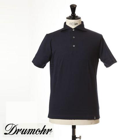 ドルモア DRUMOHR ドルモア ポロシャツ マーセライズコットン ホリゾンタルワイドカラー ネイビー ytm202-791