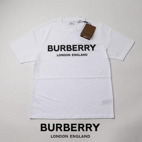Logo ストレッチ WHITE 【ブラックフライデー全品ポイント還元】BURBERRY バーバリー Print 定番人気ロゴプリントTシャツ Cotton T-shirt 8026016-white