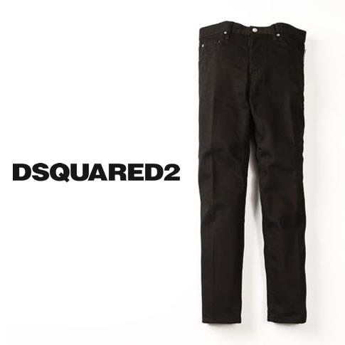 【全品送料無料】【2020-21秋冬最新作がいきなりのお値打ち価格に!】DSQUARED2 ディースクエアード ジーンズ メンズ Black Bull Wash Twist Zip Jeans サイドジップ ブラックデニムパンツ スリム テーパード ストレッチ s74lb0742-900