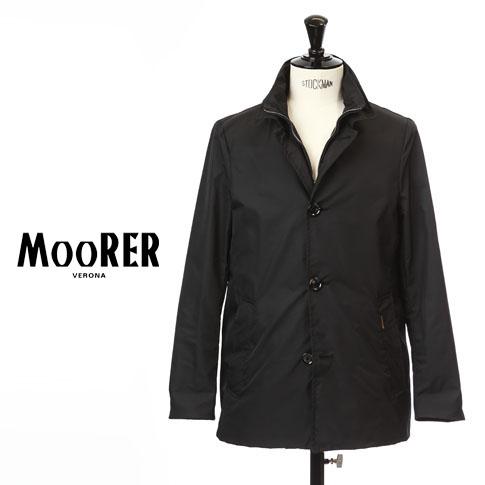 【2020半期決算セール】MOORER / ムーレー メンズ シングルブレスト スタンドカラー スプリング ジャケット BERNINI KM1 NERO ブラック