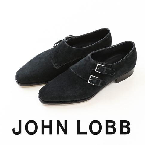 【全品送料無料】JOHN LOBB純正ブラシ付(HARD&SOFT)JOHN LOBB / ジョンロブ CHAPEL / チャペル ダブルモンクストラップ 8000番 Eワイズ シューツリー&純正ブラシ付 Midnight(Deep Blue)
