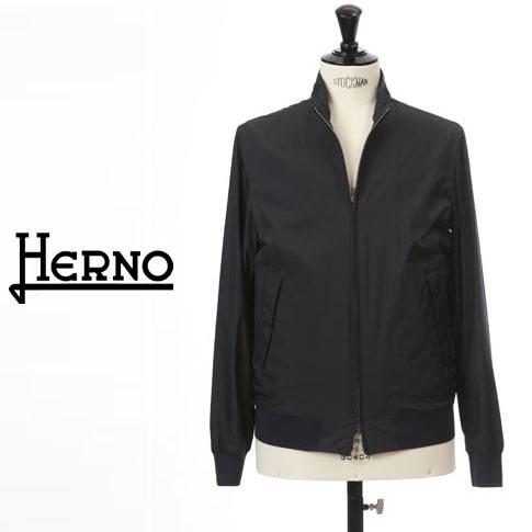 【2020半期決算セール】HERNO / ヘルノ メンズ パッカブル スイングトップブルゾン HERNO FLIGHTコレクション ネイビー GI0184U-13220-9200