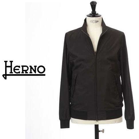 【2020半期決算セール】HERNO / ヘルノ メンズ パッカブル スイングトップブルゾン HERNO FLIGHTコレクション ブラック GI0184U-13220-9300