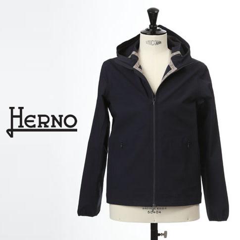 【2020半期決算セール】HERNO / ヘルノ メンズ 撥水 ストレッチナイロン マウンテンパーカー ブルゾン ネイビー gi0188u-9200