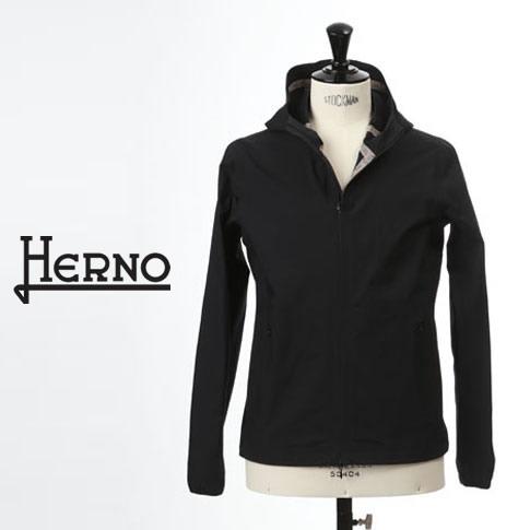 【2020半期決算セール】HERNO / ヘルノ メンズ 撥水 ストレッチナイロン マウンテンパーカー ブルゾン ブラック gi0188u-9300