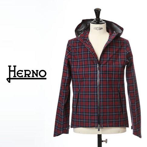 【2020半期決算セール】HERNO / ヘルノ メンズ Laminar(ラミナー)マウンテンパーカー ラミナー ゴアテックス 撥水 レッドxネイビー チェック パーカーブルゾン LAMINAR GORETEX GI047UL-13223-9268
