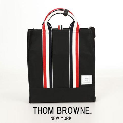 【全品送料無料】トムブラウン THOM BROWNE. トートバッグ ブラック メンズ バッグ RWB ウェビング ナイロントートバッグ MAG170U05322001
