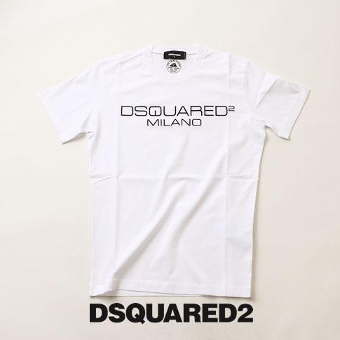 【全品送料無料】ディースクエアード / DSQUARED2 / ディースクエアード 半袖 Tシャツ DSQUARED2 旧ロゴプリント クルーネックTシャツ カットソー ホワイト s74gd0644-100