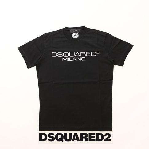 【全品送料無料】ディースクエアード / DSQUARED2 / ディースクエアード 半袖 Tシャツ DSQUARED2 旧ロゴプリント クルーネックTシャツ カットソー ブラック s74gd0644-900