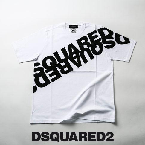 ディースクエアード / DSQUARED2 / ミラーロゴプリント ディースクエアード オーバーサイズ 半袖 Tシャツ Mirrored Logo T-Shirt ホワイト s74gd0664-963x